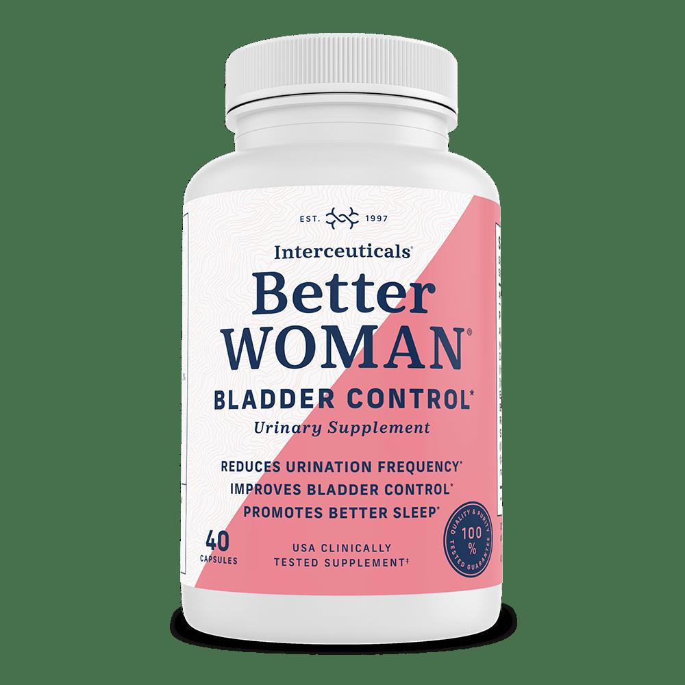 BetterWOMAN Bladder Control Urinary Health Supplement for Women